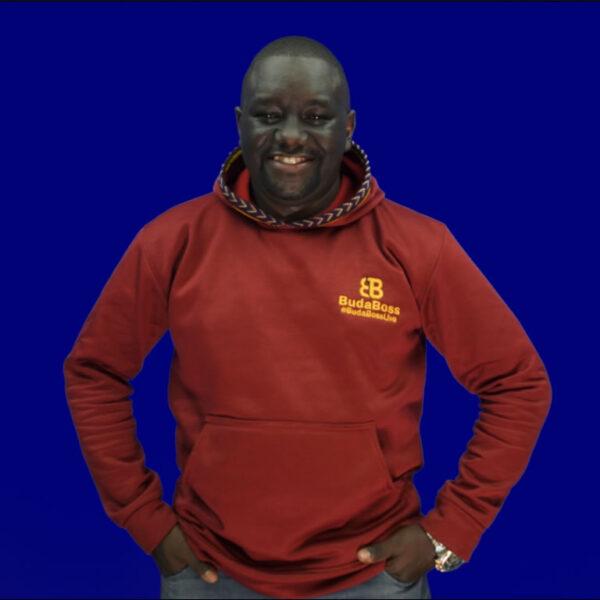 Budaboss red wind jumper/hoodie